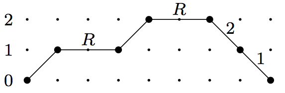 weighted schroder path